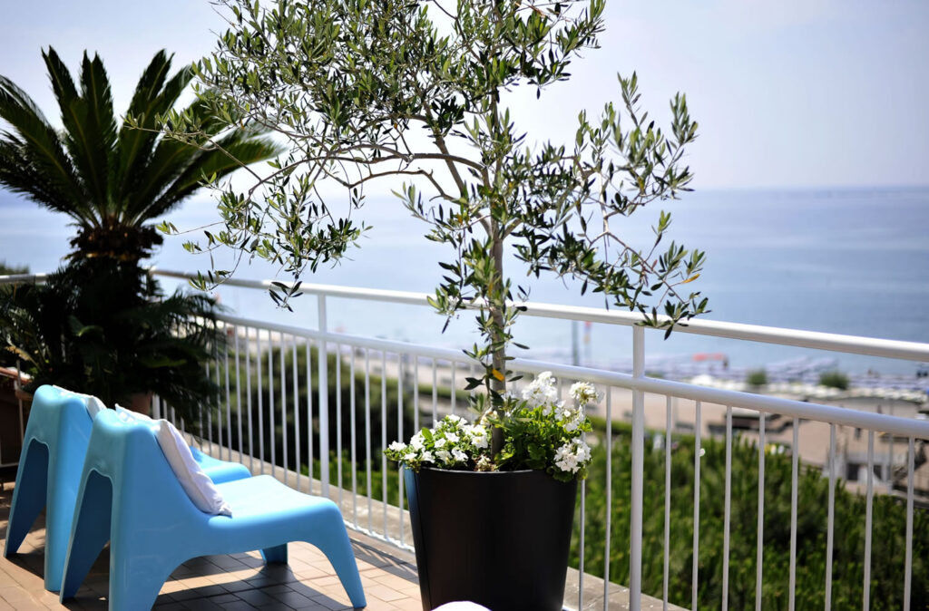 At the hotel you can relax and sunbathe on the magnificent panoramic terrace equipped with sea views.